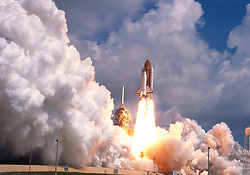 Feb 01, 2003; Kennedy Space Center, FL, USA; File Photo from June 20th 1996. The NASA Shuttle Columbia with 7 astronauts on board fell from sky this morning and debris has been found between Dallas and Houston. NASA lost communication with Columbia as the ship and its seven astronauts soared over Texas several minutes before its expected landing today. Picture shows the Space Shuttle Columbia taking off on a previous mission. (Credit Image: Peter Stachiw/ZUMAPRESS.com)