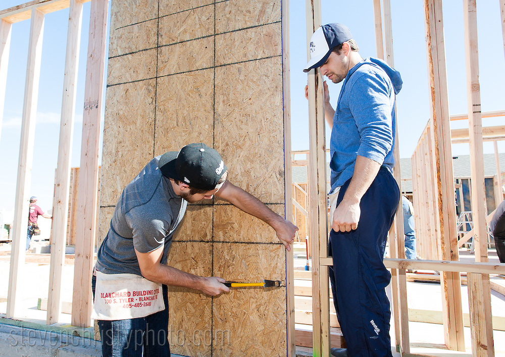 October 30, 2012: The Oklahoma City Barons assist with building a house for Habitat for Humanity in Oklahoma City, Oklahoma.