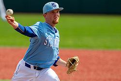 NORMAL, IL - May 01: Tyler Ward during a college baseball game between the ISU Redbirds and the Indiana State Sycamores on May 01 2019 at Duffy Bass Field in Normal, IL. (Photo by Alan Look)