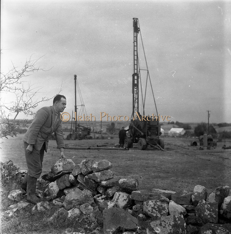 Lead Mines at Loughrea..1962..08.01.1962..01.08.1962..8th January 1962..Prospecting started in Loughrea in what is thought to be lead deposits beneath the lands of several small farms in the area.
