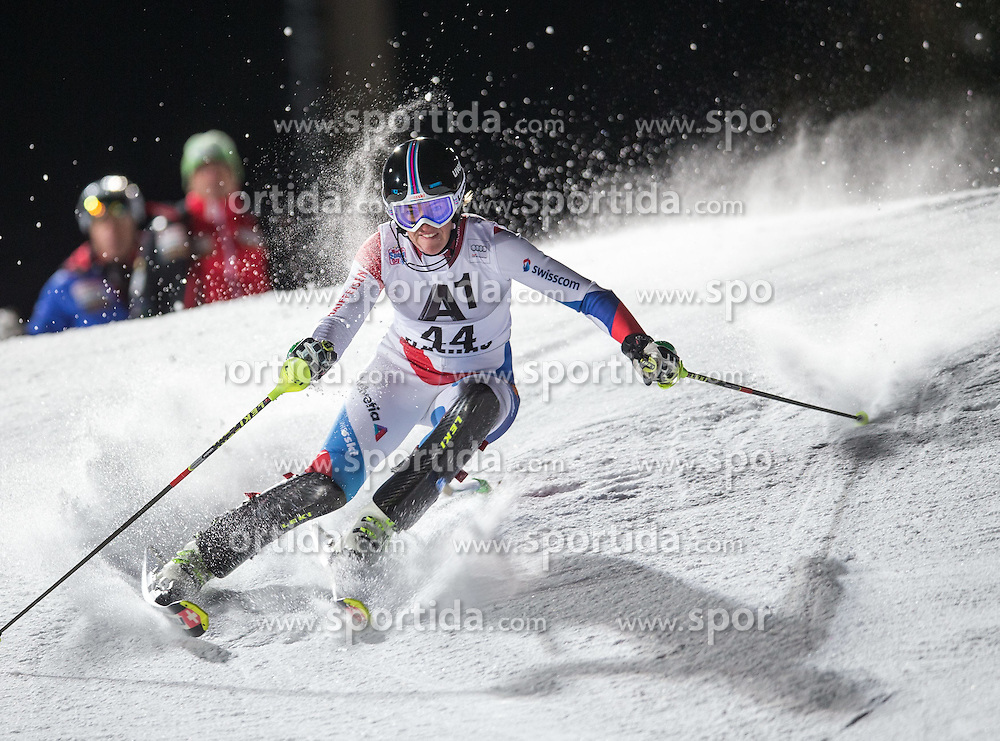 13.01.2015, Hermann Maier Weltcupstrecke, Flachau, AUT, FIS Weltcup Ski Alpin, Flachau, Slalom, Damen, 1. Lauf, im Bild Nadja Vogel (SUI) // Nadja Vogel of Switzerland in action during 1st run of the ladie's Slalom of the FIS Ski Alpine World Cup at the Hermann Maier Weltcupstrecke in Flachau, Austria on 2015/01/13. EXPA Pictures © 2015, PhotoCredit: EXPA/ JOHANN GRODER
