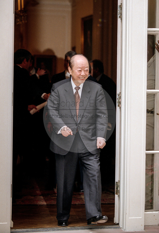 Japanese Finance Minister Kiichi Miyazawa during the group picture for the Annual IMF and World Bank meeting October 6, 1998 in Washington, DC. Ciampi backed proposals to give the IMF's policy-making interim committee more teeth.