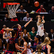 02 December 2018: The San Diego State  Lady Aztecs lost a tough match to the Arizona Wildcats Sunday afternoon 69-60 at Viejas Arena.