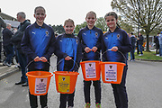 AFC Wimbledon ladies and girls development fund during the EFL Sky Bet League 1 match between AFC Wimbledon and Gillingham at the Cherry Red Records Stadium, Kingston, England on 23 March 2019.