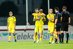 Players of NK Domzale during 2nd Leg football match between FC Valur Reykjavik and NK Domzale in 2nd Qualifying Round of UEFA Europa League 2017/18, on July 20, 2017 in Domzale, Slovenia. Photo by Grega Valancic / Sportida