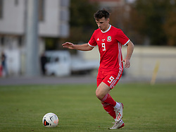 ORHEI, MOLDOVA - Friday, October 11, 2019: Wales' Mark Harris during the UEFA Under-21 Championship Italy 2019 Qualifying Group 9 match between Moldova and Wales at the Orhei District Sports Complex. (Pic by Kunjan Malde/Propaganda)