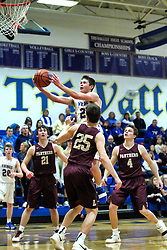 15 January 2019: Boys Basketball game between the Le Roy Panthers and the Tri Valley Vikings in Tri Valley High School, Downs IL<br /><br /><br />25