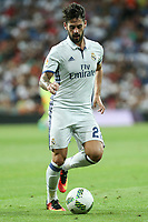 Real Madrid's Isco Alarcon during the XXXVII Bernabeu trophy between Real Madrid and Stade de Reims at the Santiago Bernabeu Stadium. August 15, 2016. (ALTERPHOTOS/Rodrigo Jimenez)