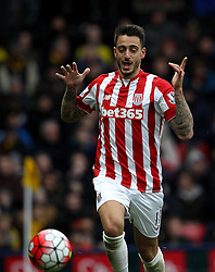 Joselu of Stoke City celebrates scoring his sides second goal - Mandatory byline: Robbie Stephenson/JMP - 19/03/2016 - FOOTBALL - Vicarage Road - Watford, England - Crystal Palace v Leicester City - Barclays Premier League