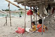 Tin mine on the road to Pemali. Bangka Island (Indonesia) is devastated by illegal tin mines. The demand for tin has increased due to its use in smart phones and tablets.<br /> <br /> Mine d'étain illégale sur la route de Pemali.   <br /> L'île de Bangka (Indonésie) est dévastée par des mines d'étain sauvages. la demande de l'étain a explosé à cause de son utilisation dans les smartphones et tablettes.