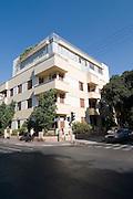 Israel, Tel Aviv, Bauhaus Architecture in Rothschild Boulevard No. 90