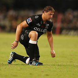 DURBAN, SOUTH AFRICA - APRIL 22: Etienne Oosthuizen of the Cell C Sharks during the Super Rugby match between Cell C Sharks and Rebels at Growthpoint Kings Park on April 22, 2017 in Durban, South Africa. (Photo by Steve Haag/Gallo Images)