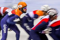 13-01-2018 DUI: ISU European Short Track Championships 2018 day 2, Dresden<br /> Relay mannen plaatsen zich voor de finale maar moeizaam, Sjinkie Knegt NED #2