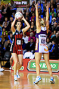 Tactix player Bailey Mes during their ANZ Championship Netball game between the Mainland Tactix v Queenland Firebirds. Marlborough Lines Stadium 2000, Blenheim, New Zealand. Sunday 24 May 2015. Copyright Photo: Chris Symes / www.photosport.co.nz