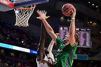 Real Madrid's Othello Hunter and Unicaja Malaga's Alen Omic during semi finals of playoff Liga Endesa match between Real Madrid and Unicaja Malaga at Wizink Center in Madrid, May 31, 2017. Spain.<br /> (ALTERPHOTOS/BorjaB.Hojas)