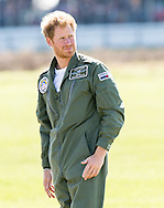 Prince Harry Attends The Battle Of Britain Flypast at Goodwood on the 75th Anniversary of the Battle of Britain, it is being marked by a historic flypast that brings more Battle of Britain aircraft together than ever before as a show of thanks to 'the few' and the sacrifices they made.