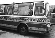 Velvet Revolution Tour Site - Coach converted into a camper van, Sheffield, 19th September 1994