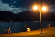 Pallanza, lake front by night