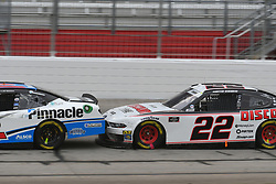 February 23, 2019 - Hampton, GA, U.S. - HAMPTON, GA - FEBRUARY 23: Austin Cindric, Team Penske, Ford Mustang Discount Tire (22) pushes Tyler Reddick, Richard Childress Racing, Chevrolet Camaro Pinnacle Financial Partners (2) during the Xfinity Series  Rinnai 250 on February 23, 2019, at Atlanta Motor Speedway in Hampton, GA.(Photo by Jeffrey Vest/Icon Sportswire) (Credit Image: © Jeffrey Vest/Icon SMI via ZUMA Press)