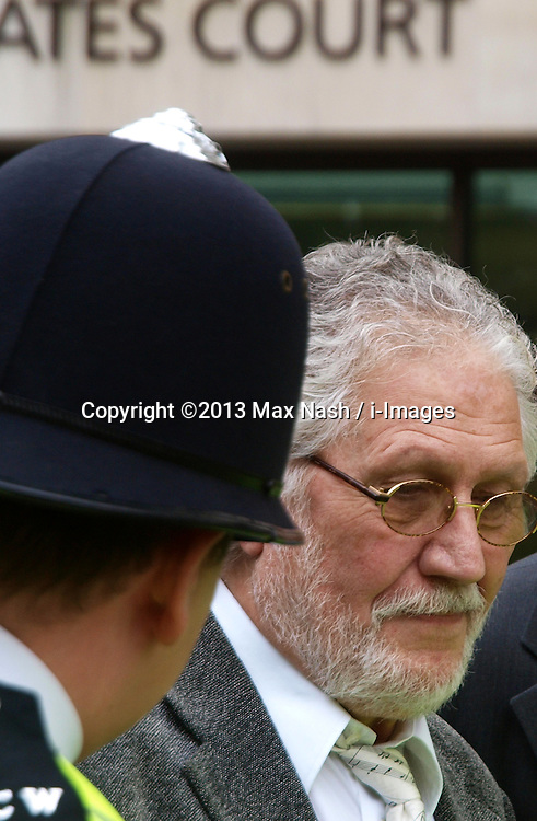 David Lee Travis in Court. <br /> Former BBC Radio 1 DJ David Lee Travis leaves court for alleged indecent assault charges, Westminster Magistrates' Court, London, United Kingdom. Thursday, 3rd October 2013. Picture by Max Nash / i-Images