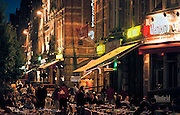 Belgie, Leuven, 10-5-1998..Terrasjes, uitgaan..Foto: Flip Franssen, Hollandse Hoogte