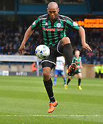 Rochdale Forward, Calvin Andrew  during the Sky Bet League 1 match between Bury and Rochdale at Gigg Lane, Bury, England on 17 October 2015. Photo by Mark Pollitt.