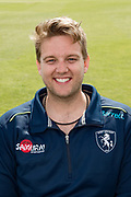 Adam Taylor (Strength & Conditioning Coach) of Kent  during the Kent County Cricket Club Headshots 2017 Press Day at the Spitfire Ground, Canterbury, United Kingdom on 31 March 2017. Photo by Martin Cole.