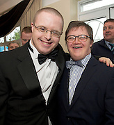 David O'Sullivan Moycullen and Sean Ryan Athenry at the Ability West Best Buddy Ball and award night at the Menlo Park Hotel Galway. Photo:Andrew Downes.