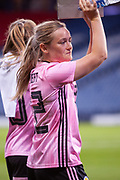 Scotlands Erin CUTHBERT (Chelsea FCW (ENG)) applauds the fans following their win over Jamaica during the International Friendly match between Scotland Women and Jamaica Women at Hampden Park, Glasgow, United Kingdom on 28 May 2019.