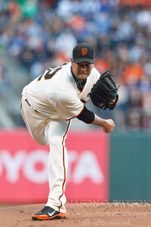 SAN FRANCISCO, CA - JUNE 26: Ryan Vogelsong #32 of the San Francisco Giants pitches against the Los Angeles Dodgers during the first inning at AT&T Park on June 26, 2012 in San Francisco, California. The San Francisco Giants defeated the Los Angeles Dodgers 2-0. (Photo by Jason O. Watson/Getty Images) *** Local Caption *** Ryan Vogelsong