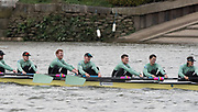 Hammersmith, GREATER LONDON. United Kingdom Cambridge University  Boat  Club, Pre Boat Race Fixture CUBC vs ITA M8+ for the 2017 Boat Race The Championship Course, Putney to Mortlake on the River Thames.<br /> <br /> Saturday  18/03/2017<br /> <br /> [Mandatory Credit; Peter SPURRIER/Intersport Images]<br /> CUBC<br /> <br /> [R-L] 7. Lance Tredell,6. Patrick Eble,5. Aleksander Malowany, 4. Timothy Tracey, 3. James Letten, 2. Freddie Davidson