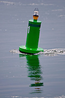 Long Island, New York - buoy bobbing in the water.