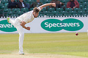 5 WICKETS - Richard Gleeson during the Specsavers County Champ Div 2 match between Leicestershire County Cricket Club and Lancashire County Cricket Club at the Fischer County Ground, Grace Road, Leicester, United Kingdom on 23 September 2019.