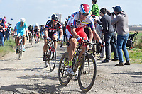 KRISTOFF Alexander (NOR)/ DEGENKOLB John (GER) during the famous cycling race Paris Roubaix with paving stones paths on april 12, 2015 - Photo Tim de Waele / DPPI