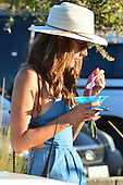 Alessandra Ambrosio with her children at a carnival