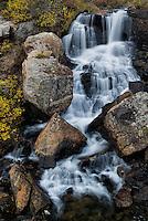 Waterfall near Blue Lakes Reservoir in Summit County Colorado.