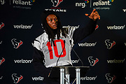 DeAndre Hopkins (WR) of the Houston Texans (10) during the media day / training session / press conference for Houston Texans at London Irish Training Ground, Hazelwood Centre, United Kingdom on 1 November 2019.