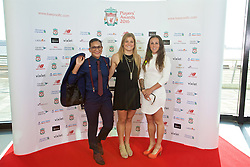 LIVERPOOL, ENGLAND - Thursday, May 12, 2016: Liverpool Ladies' Shanice Van de Sanden, Kate Longhurst and Natasha Harding arrive on the red carpet for the Liverpool FC Players' Awards Dinner 2016 at the Liverpool Arena. (Pic by David Rawcliffe/Propaganda)