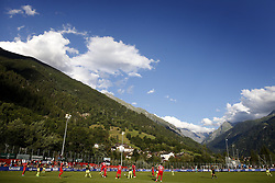 during the friendly match between FC Sion and PSV Eindhoven at Stade St-Marc on July 12, 2017 in Bagnes, Switzerland