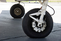 Detail of Beech King Air main landing gear