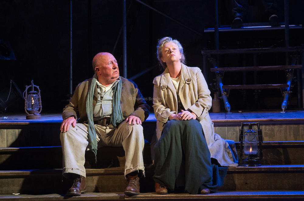Floyd Collins the Musical at Wiltons Music Hall. <br />  Jack Chissick (Lee Collins) and  Sarah Ingram (Miss Jane)