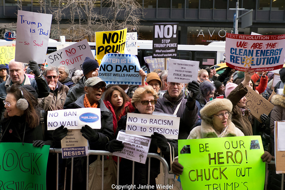 Environmental protest in New York City 2nd Feb 2017