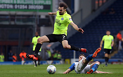 Gwion Edwards of Peterborough United in action with Corry Evans of Blackburn Rovers - Mandatory by-line: Joe Dent/JMP - 19/04/2018 - FOOTBALL - Ewood Park - Blackburn, England - Blackburn Rovers v Peterborough United - Sky Bet League One