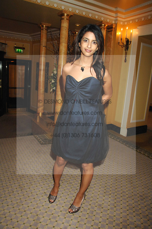 TV presenter KONNIE HUQ at the Chain of Hope Ball held at The Dorchester, Park Lane, London on 4th February 2008.<br />