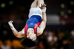November 2, 2018 - Doha, Qatar - Edriel Carlos Yulo of  Philippines   during  Floor for Men at the Aspire Dome in Doha, Qatar, Artistic FIG Gymnastics World Championships on 2 of November 2018. (Credit Image: © Ulrik Pedersen/NurPhoto via ZUMA Press)