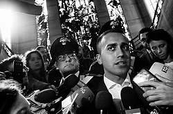 Luigi Di Maio after the meeting with Alitalia trade unions at the Ministry of Economic Development. Rome 12 October 2018. Christian Mantuano / OneShot