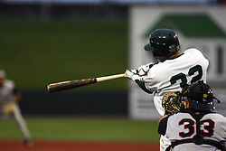 09 June 2011: Asif Shah bats during a game between the Lake Erie Crushers and the Normal Cornbelters at the Corn Crib in Normal Illinois.