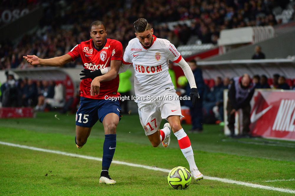 Yannick FERREIRA CARRASCO / Djibril SIDIBE - 24.01.2015 - Lille / Monaco - 22eme journee de Ligue1<br />Photo : Dave Winter / Icon Sport