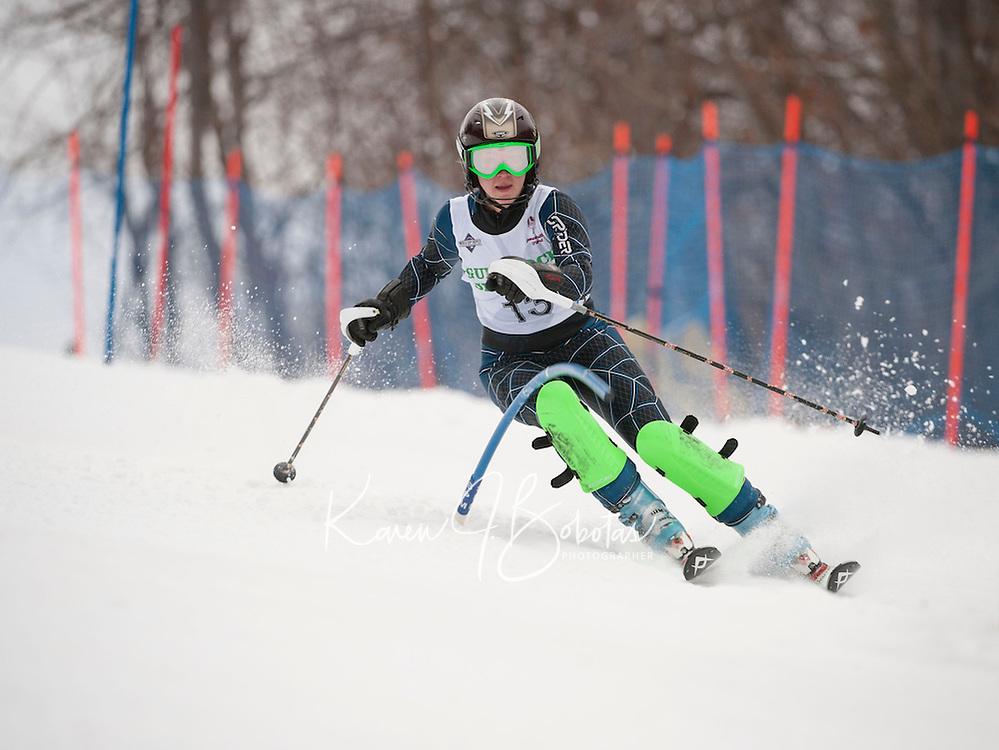 Gunstock Ski Club's Open Race on December 29, 2013.  ©2013 Karen Bobotas Photographer