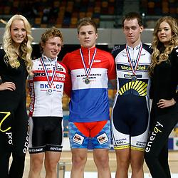 Podium Scratch - Junioren Vrouwen - Nino Honigh - Andre Looij - Stefan Kreder